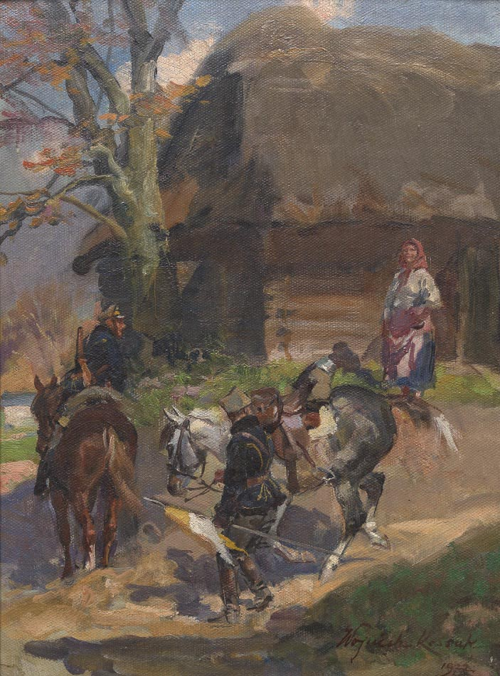 Soldiers in a Village